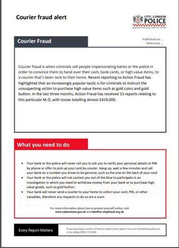 - Courier Fraud Alert